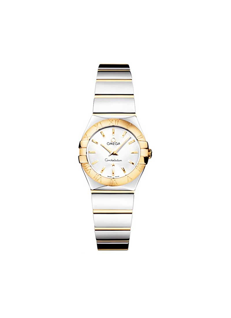 Omega Constellation '09 Polished Quartz in Steel with Yellow Gold Bezel