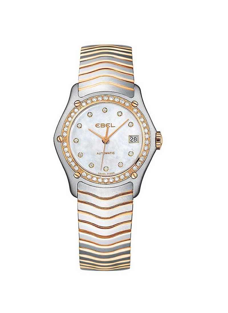 Ebel Classic Lady 27mm in Steel and Rose Gold Dimaond Bezel