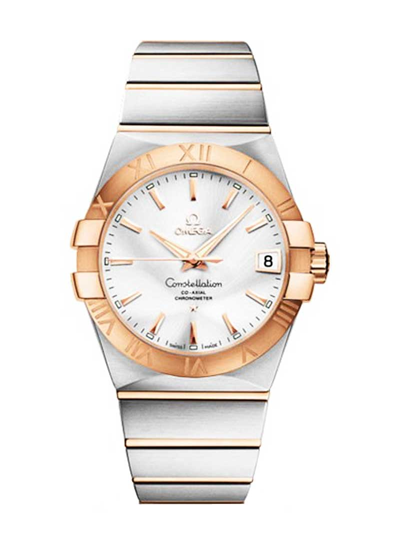 Omega Constellation Chronometer in Steel with Rose Gold Bezel