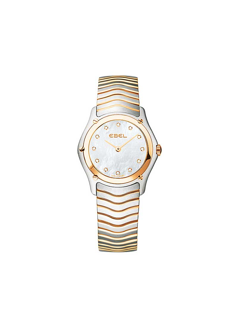 Ebel Classic Lady 27mm in Steel with Rose Gold Bezel