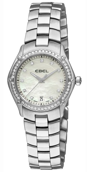 Ebel Classic Sport in Steel with Diamond Bezel