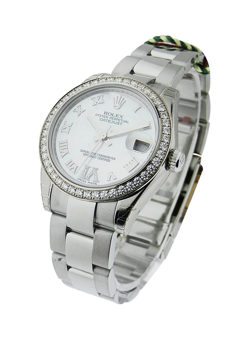 Rolex Unworn Mid Size Datejust 31mm in Steel with Diamond Bezel