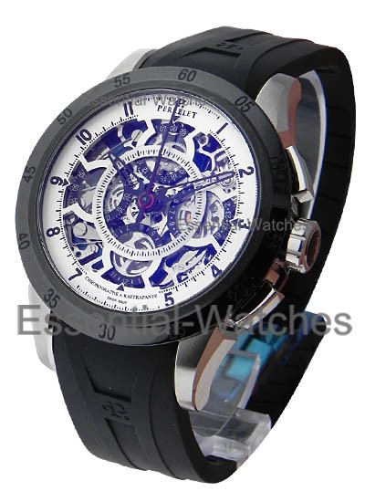 Perrelet Split Second Chronograph   Rattrapante   White Skeleton