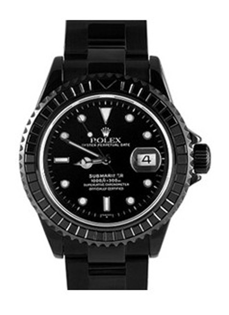 Submariner Date 40mm in Black DLC Steel with Black Sapphire Bezel