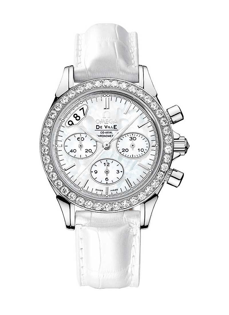 Omega De Ville Co-Axial Chronograph Ladies in Steel