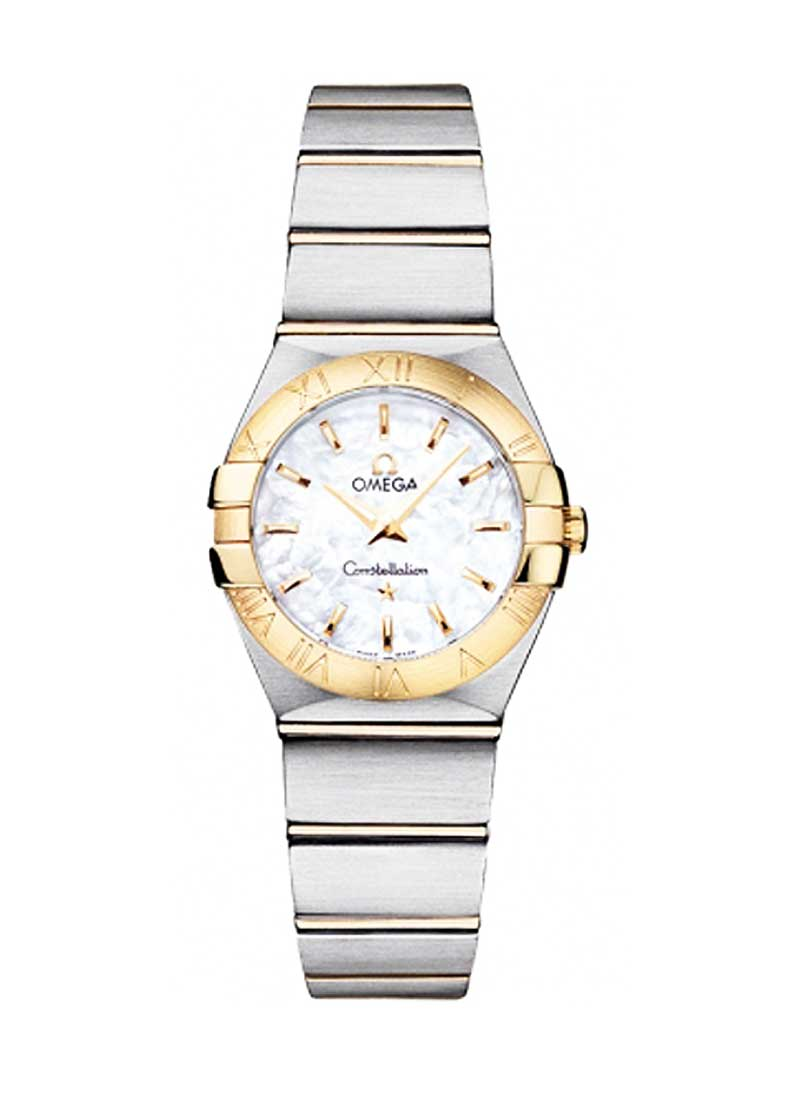 Omega Constellation '09 Polished Quartz Two-Tone