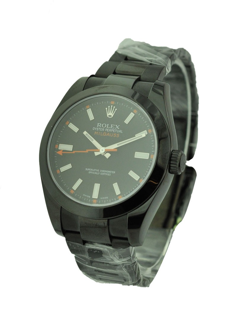 Rolex Used DLC Milgauss with Black Dial