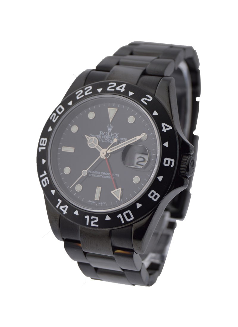 Pre-Owned Rolex Explorer II - Black PVD Steel - 40mm
