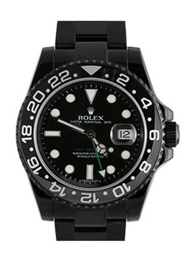 Rolex Used GMT Master II - Black PVD Steel - Ceramic Bezel