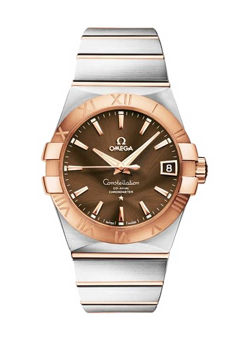Omega Constellation Men's Automatic in Steel with Rose Gold Bezel