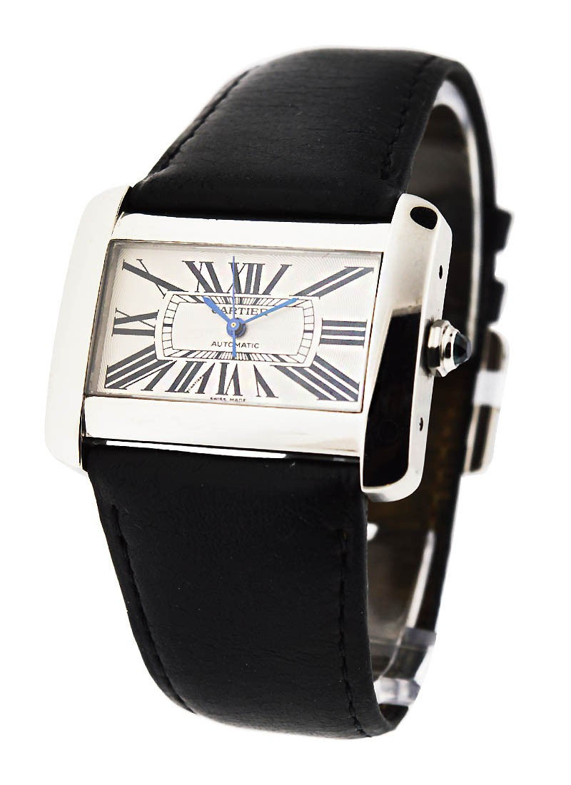 Cartier Tank Divan Large Size in Steel