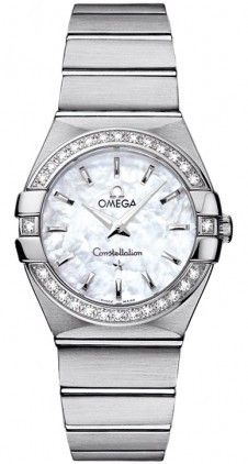 Omega Constellation Small 27mm in Steel w/ Diamond Bezel