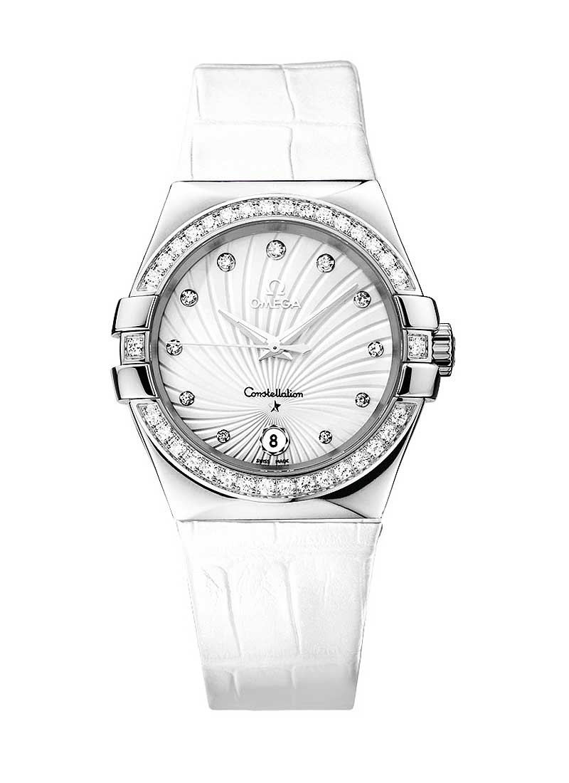 Omega Constellation Ladies 35mm in Steel with Diamond Bezel