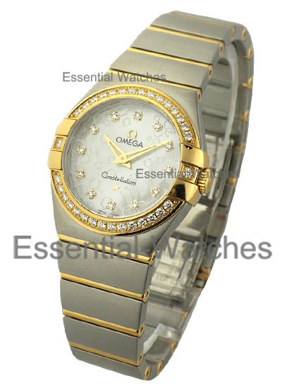 Omega Constellation 95 Lady''''s in 2-Tone w/ Diamond Bezel