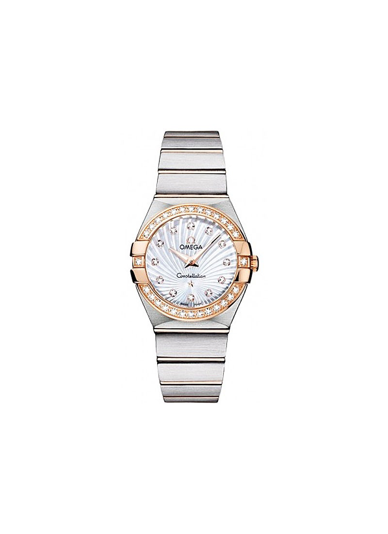 Omega Constellation 95 Lady's in 2-Tone w/ Diamond Bezel