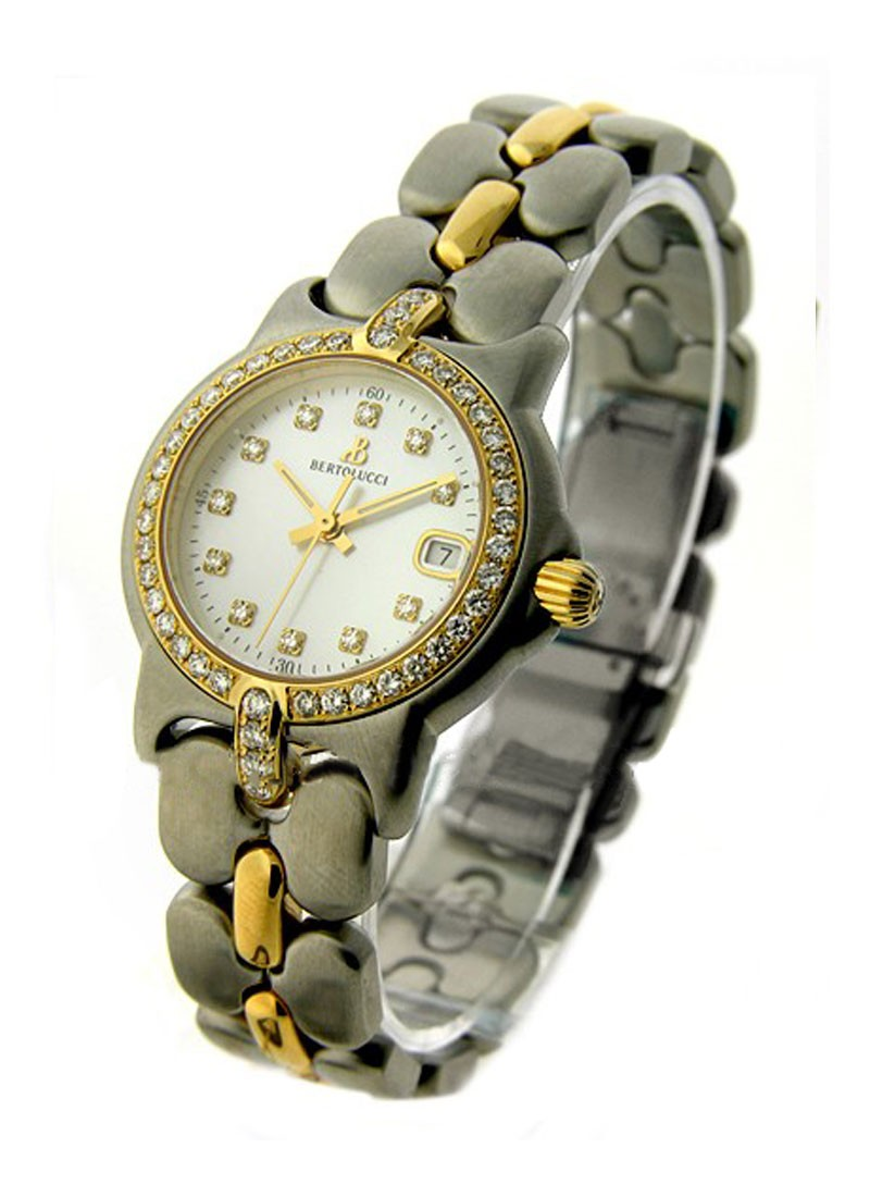 Bertolucci Vir 2-Tone in Steel with Yellow Gold Diamond Bezel