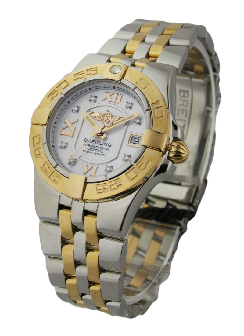 Breitling Galactic 30mm - Steel and Yellow Gold on Bracelet