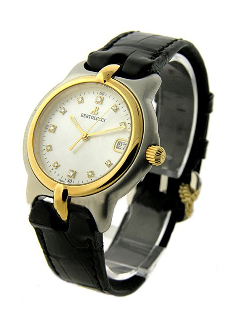 Bertolucci Vir 2   Tone in Steel with Yellow Gold Bezel