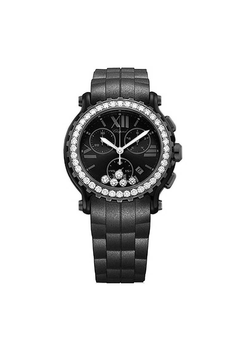 Chopard Happy Sport Chrono in Black PVD Diamonds