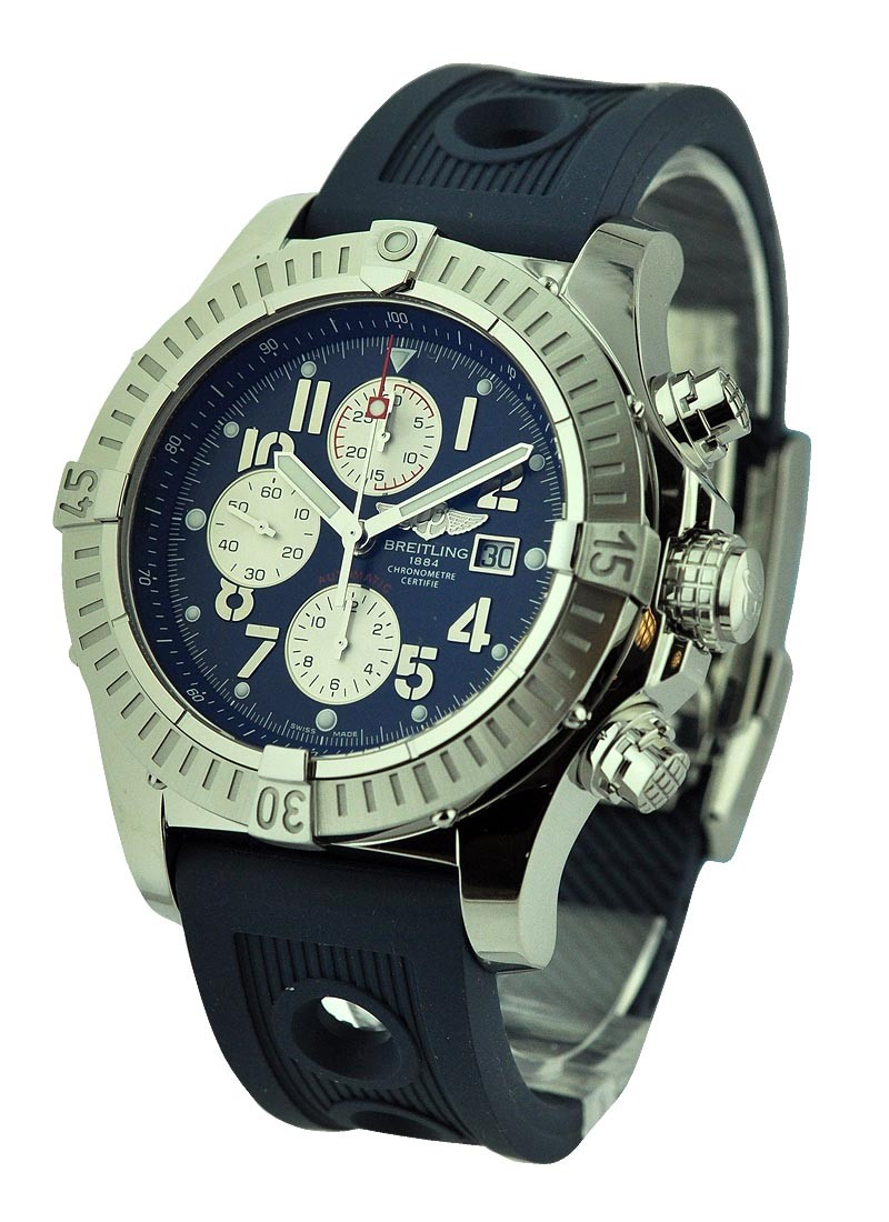 Breitling Super Avenger Chronograph in Steel with Blue Dial