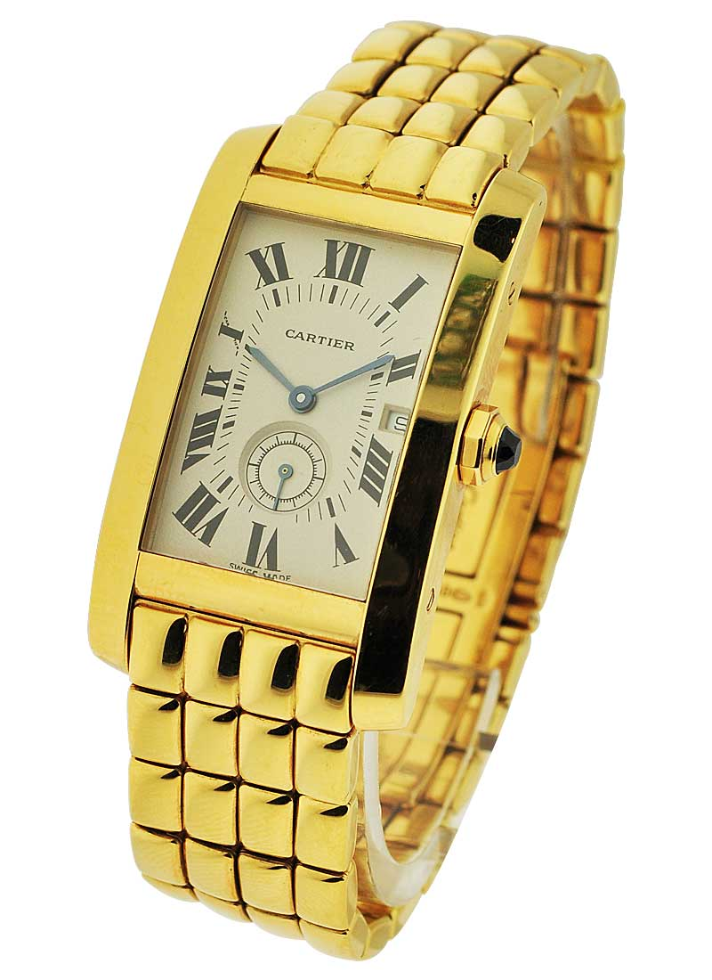 Cartier Tank Americaine 24mm in Yellow Gold