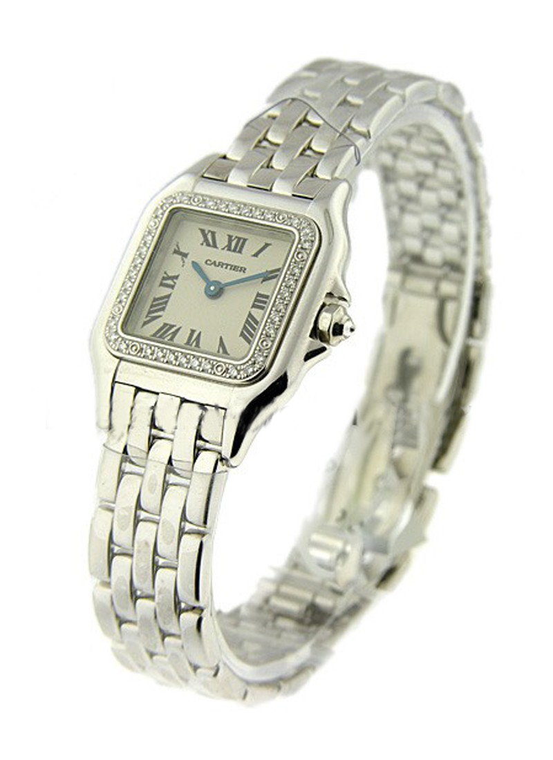 Cartier Ladies Panther in White Gold with Diamond Bezel