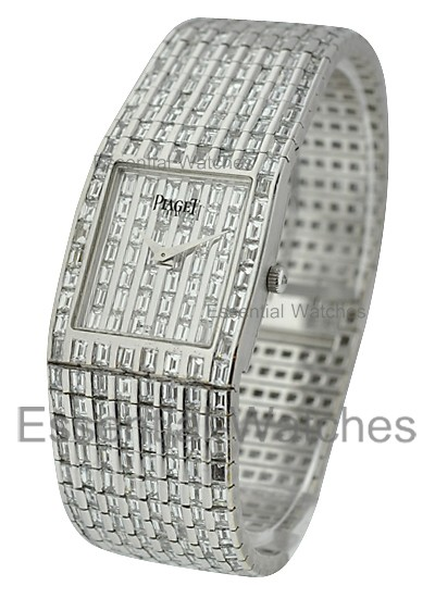 Piaget Polo Square Men''s - Custom Baguette Diamonds