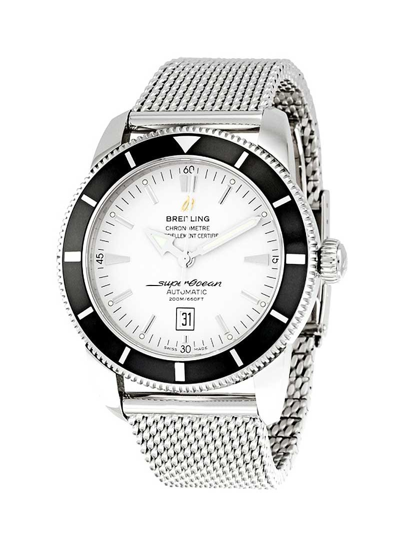 Breitling Superocean Heritage 46mm in Steel with lack Bezel