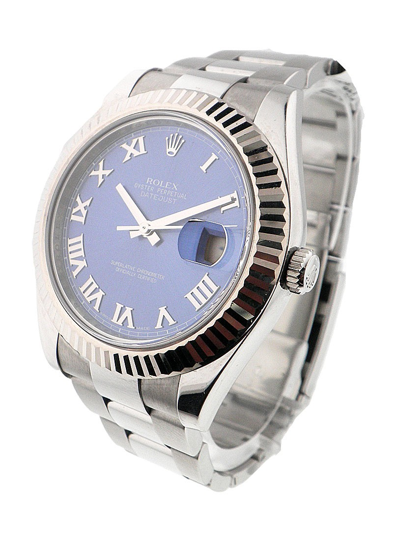 Rolex Used Datejust II  41mm with White Gold Fluted Bezel