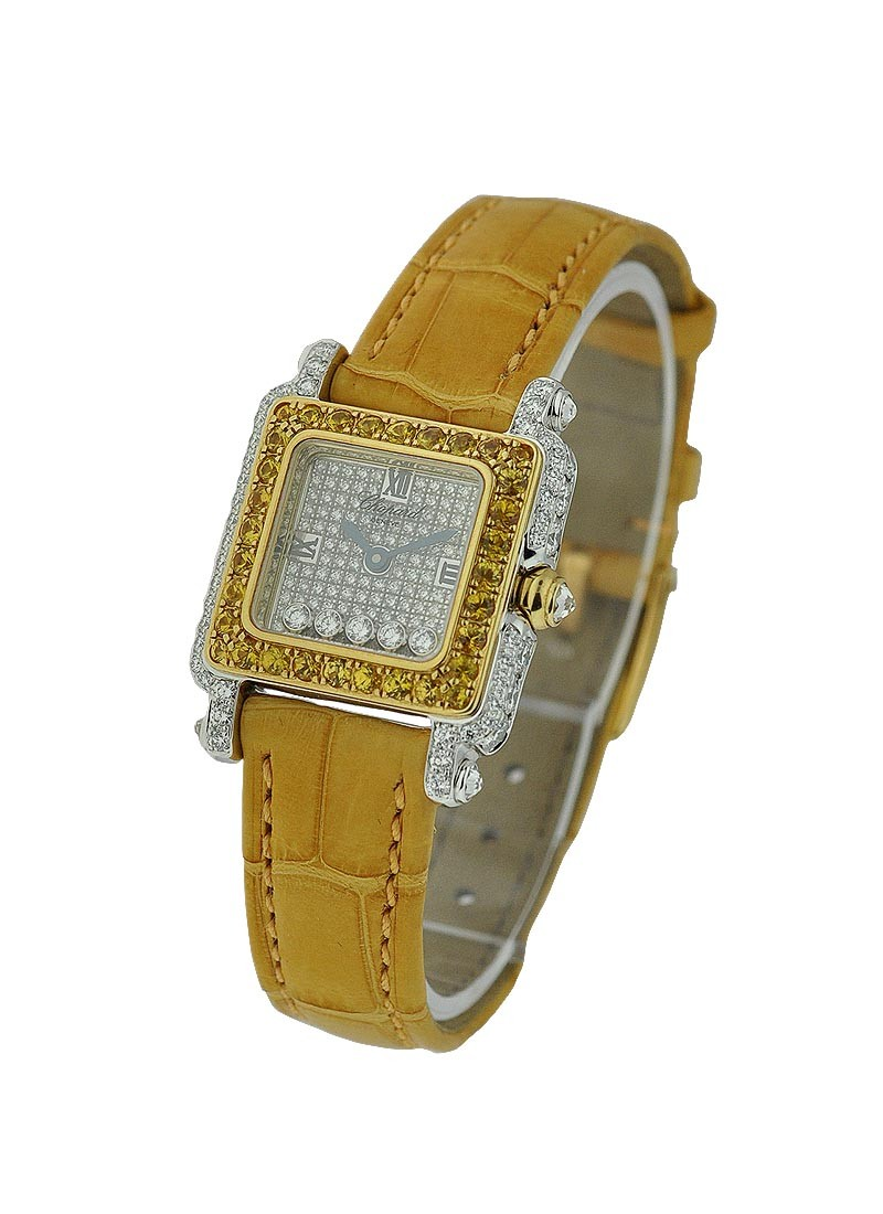 Chopard Happy Sport Square with Yellow Sapphire Bezel