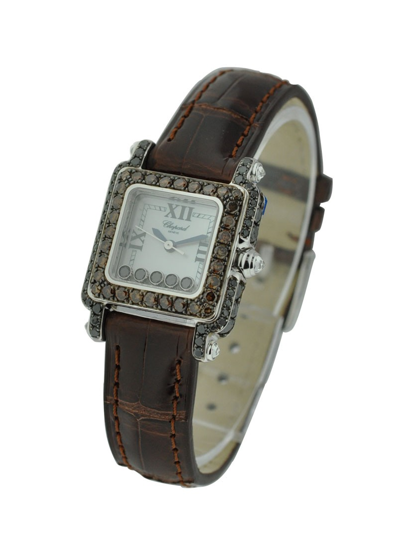 Chopard Happy Sport Square Black and Brown Diamonds