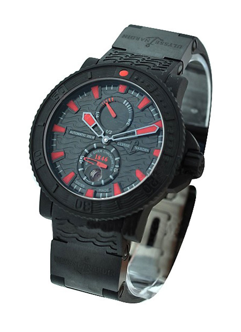 Ulysse Nardin Marine Diver Black Sea in Rubber Coated Steel   Limited Edition to 1846 pieces