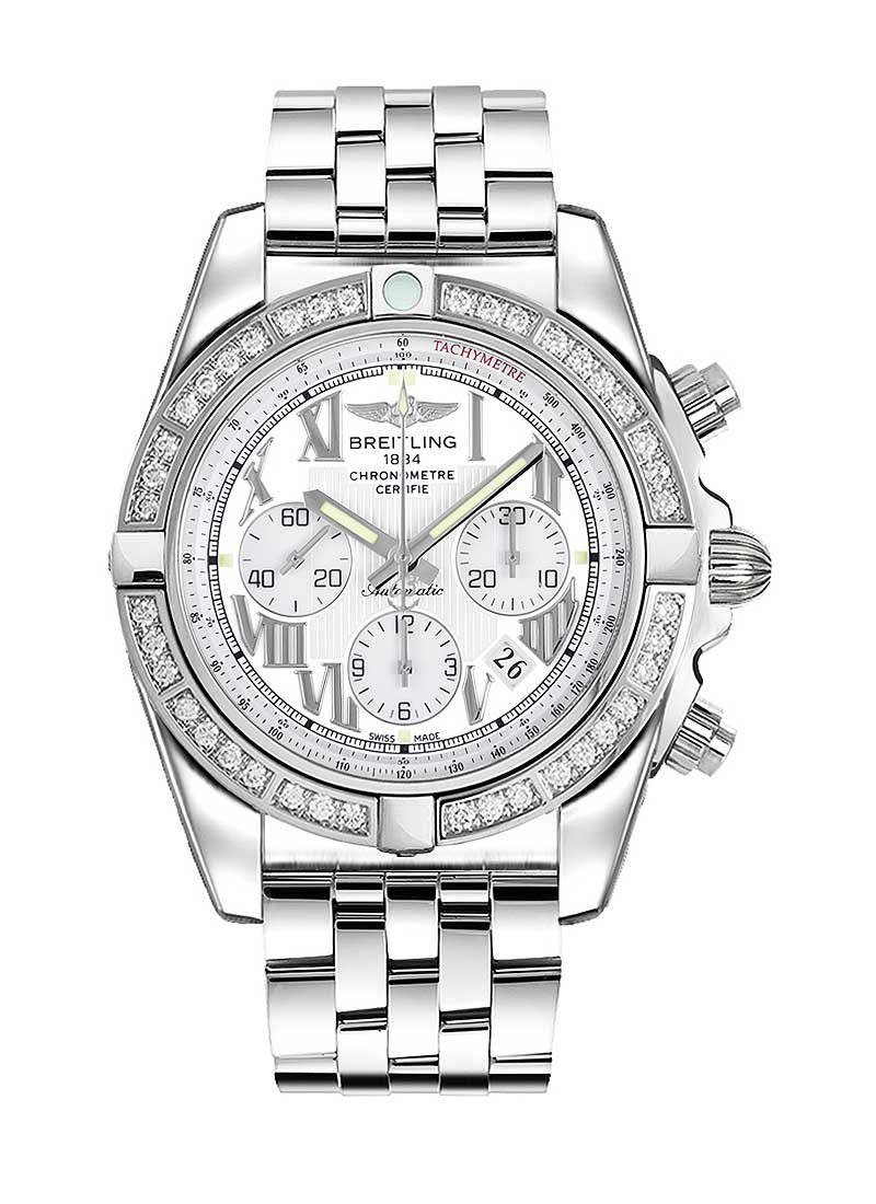 Breitling Chronomat 44 Automatic in Steel with Diamond Bezel