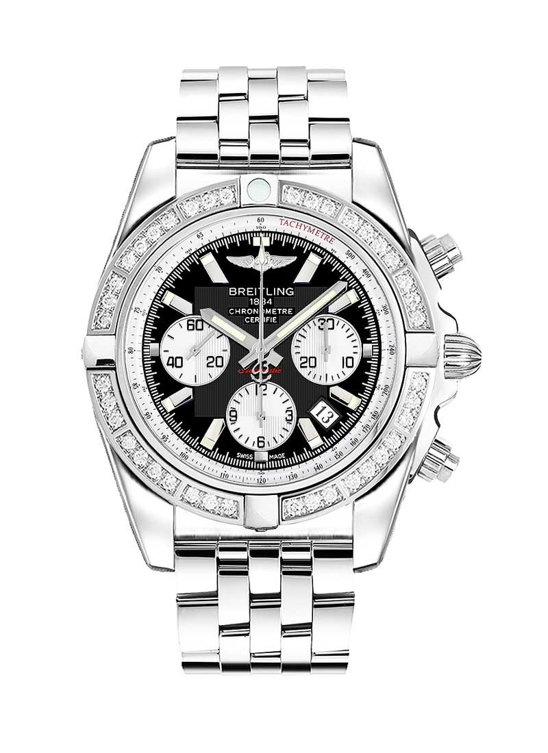 Breitling Chronomat B01 Automatic in Steel with Diamond Bezel