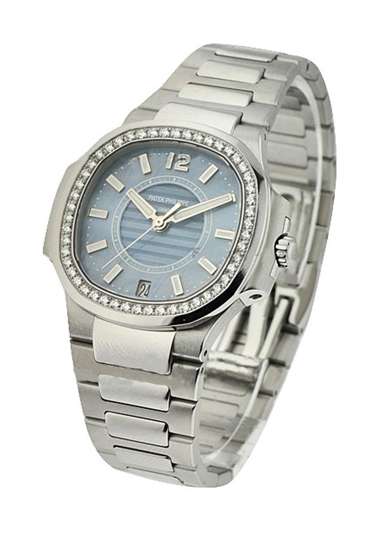 Patek Philippe Nautilus Ladies 7008/1A  with Blue Dial