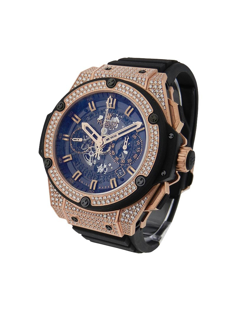 Hublot King Power Unico King Gold - Paved Diamonds