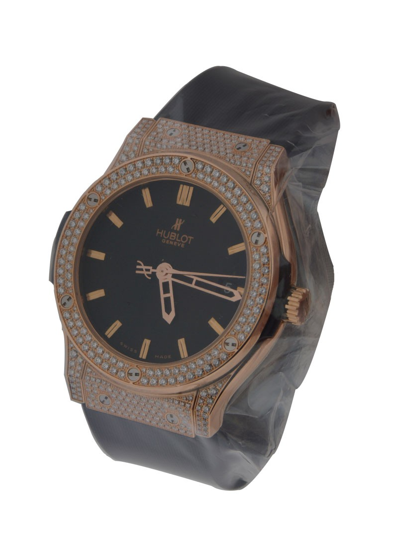 Hublot Classic Fusion in Rose Gold with Diamond Bezel