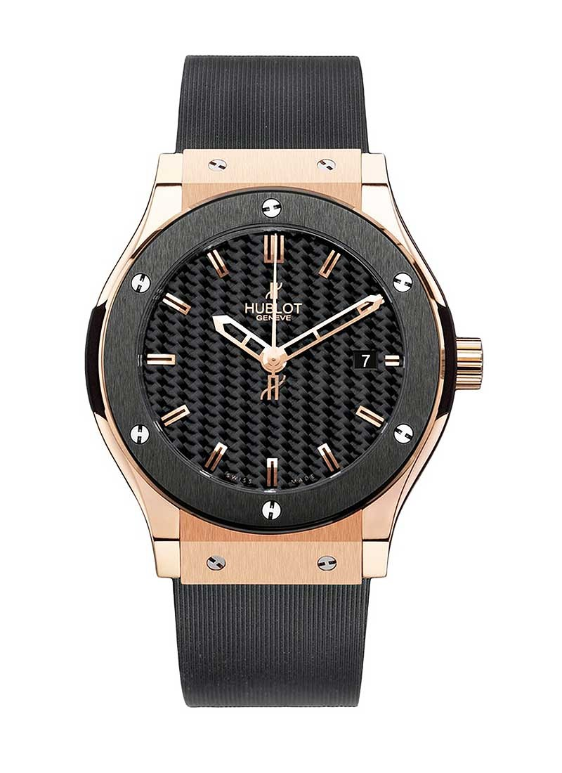 Hublot Classic Fusion 45mm in Rose Gold with Ceramic Bezel