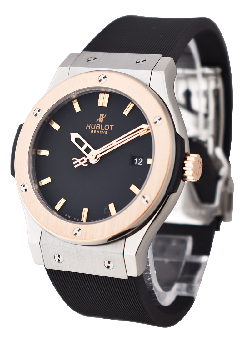 Hublot Classic Fusion 42mm in Zirconium with Rose Gold Bezel