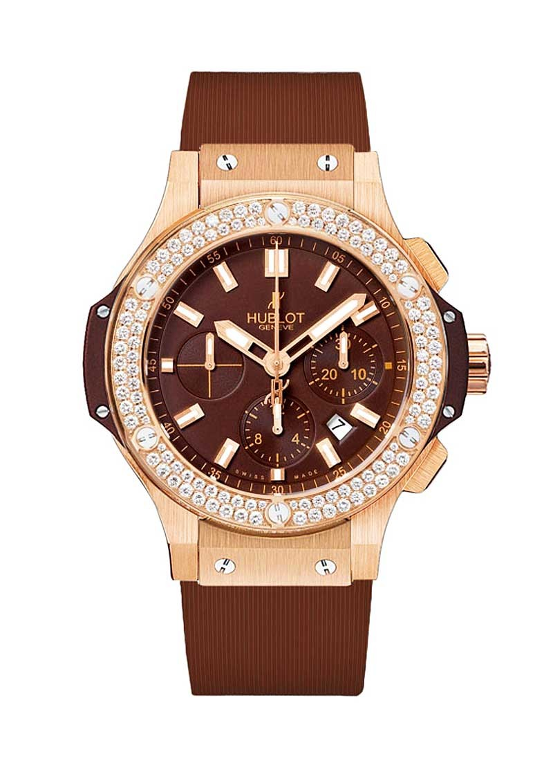 Hublot Big Bang 44mm Cappuccino in Rose Gold with Diamond Bezel
