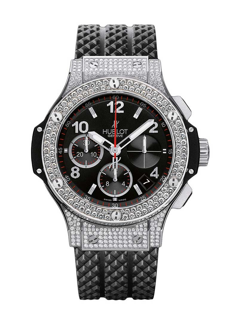 Hublot Big Bang 41mm in Steel with Diamond Bezel