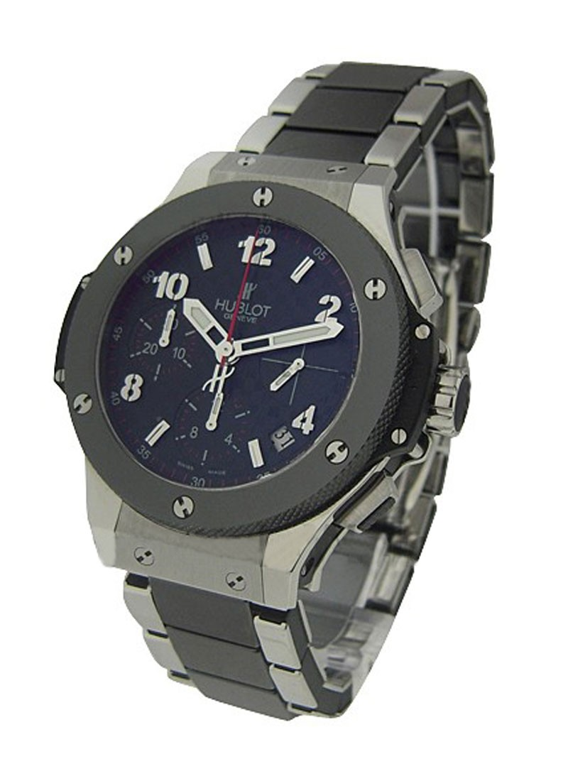 Hublot Big Bang 41mm in Steel and Black Ceramic Bezel