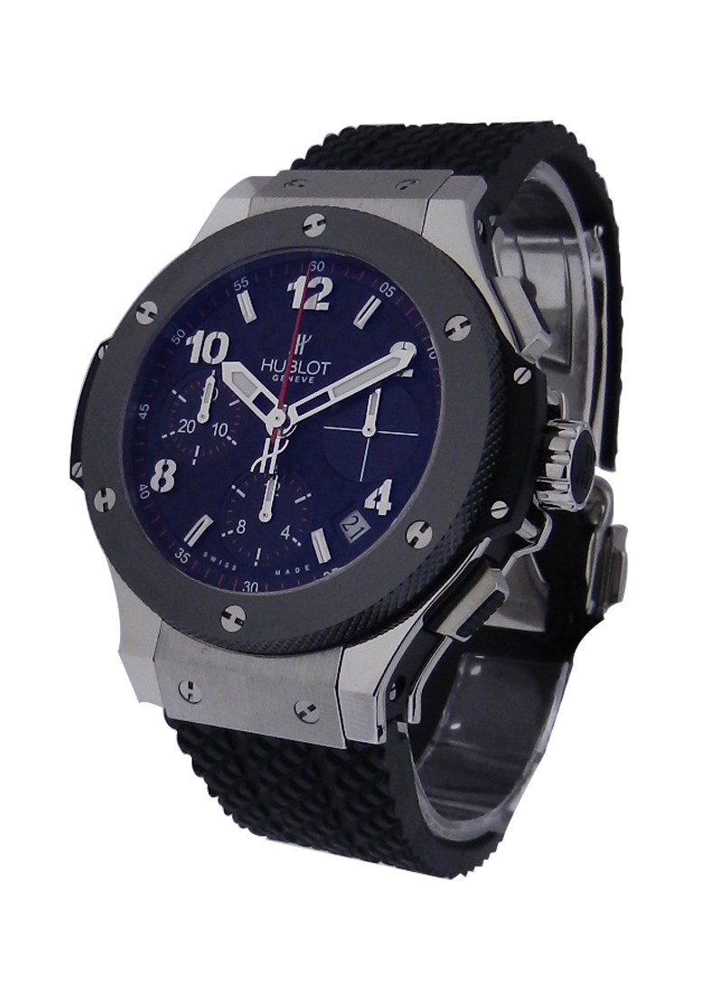 Hublot Big Bang 41mm in Steel and lack Ceramic Bezel