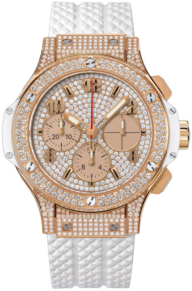 Hublot Big Bang 41mm Iin Rose Gold with Pave Diamond Bezel
