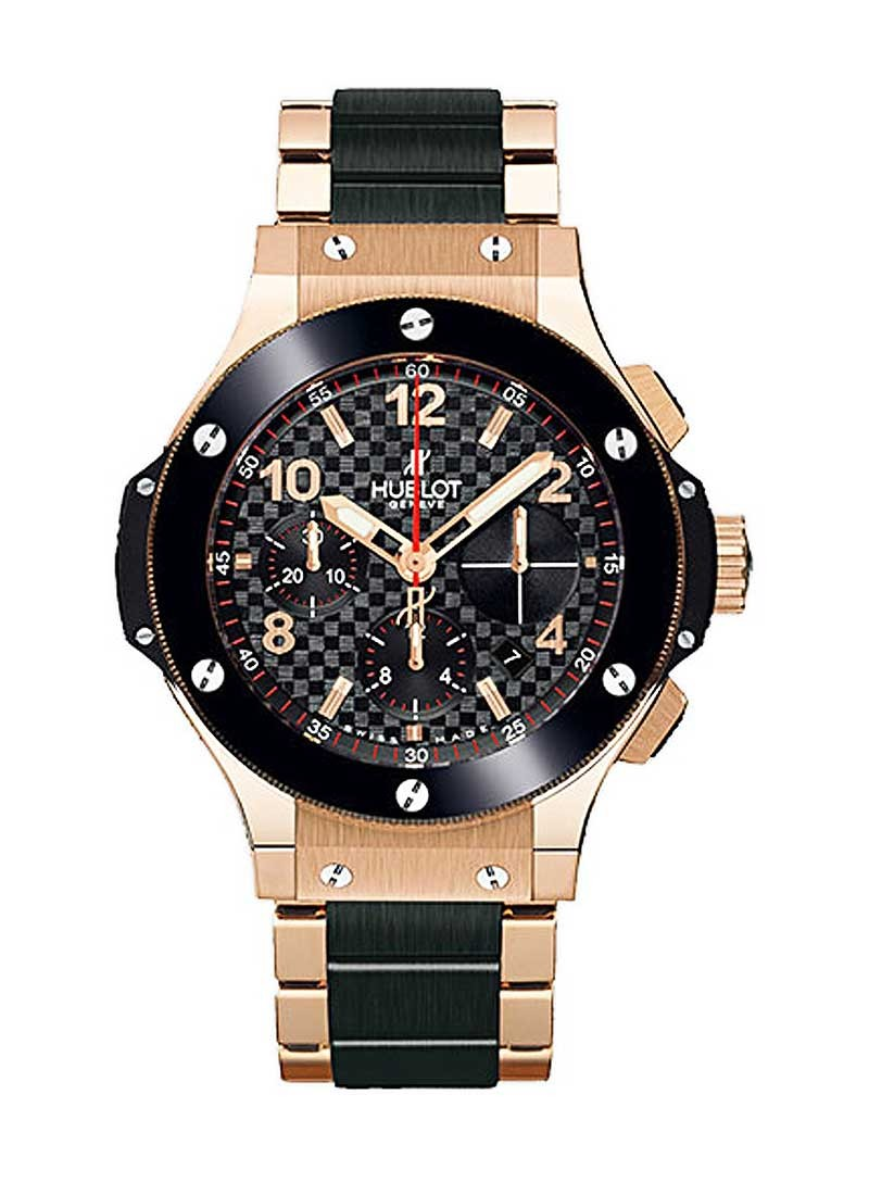 Hublot Big Bang 41mm in Rose Gold with Black Ceramic Bracelet