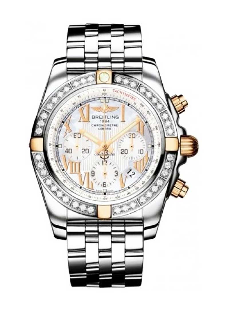 Breitling Chronomat B01 in Steel and Rose Gold with Diamond Bezel