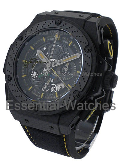 Hublot King Power Big Bang Ayrton Senna III in Black Ceramic with Carbon Fiber Bezel