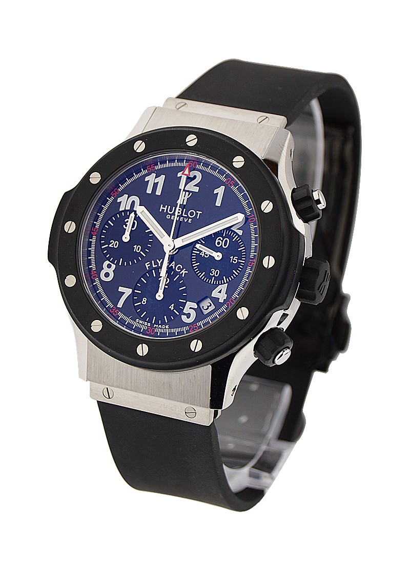 Hublot Super B Black Magic Flyback Chronograph in Steel with Rubber Bezel