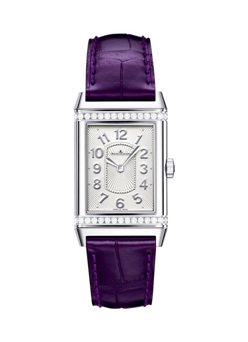 Jaeger - LeCoultre Grande Reverso Lady Ultra Thin in Steel with Diamond Bezel