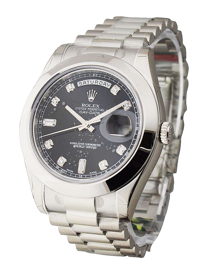 Rolex Unworn Day Date II President 41mm in Platinium with Polished Bezel